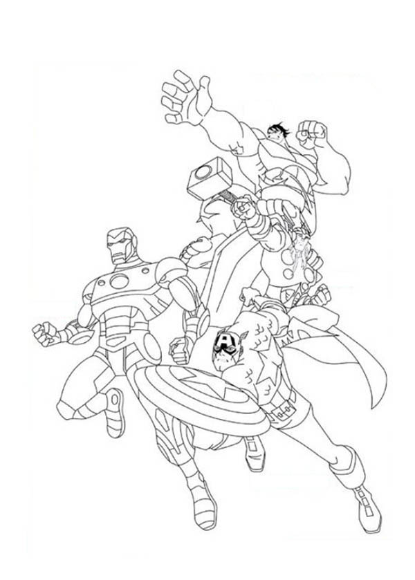 awesome-the-avengers-poster coloriage page resolution