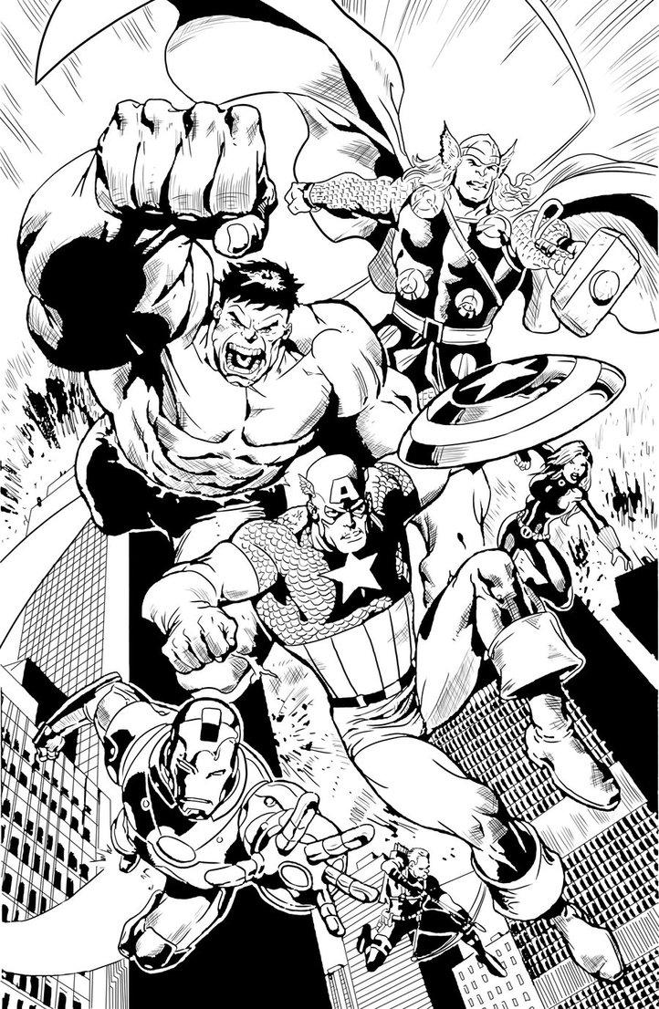 coloriage comics avengers dans coloriage avengers coloriages
