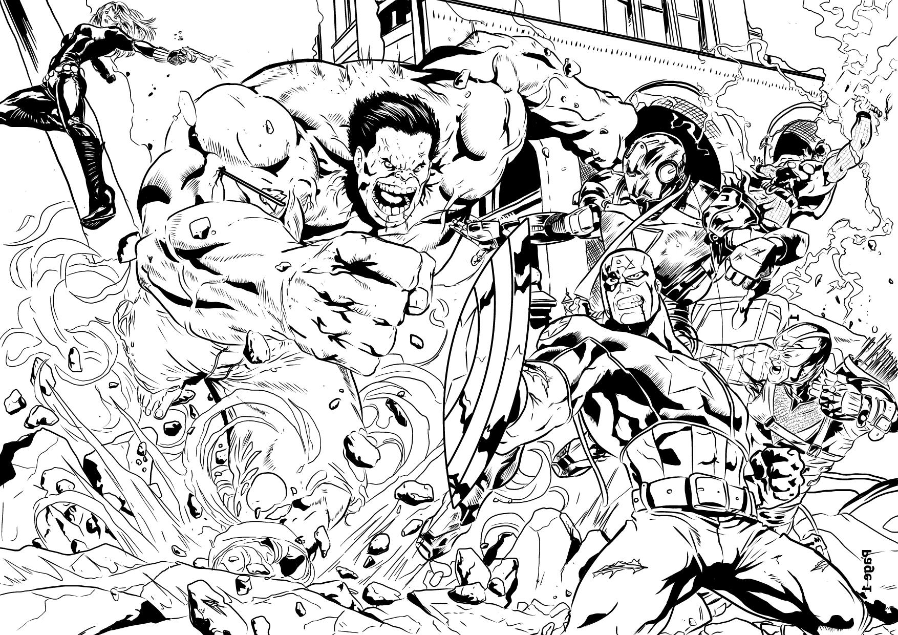 Impressionnant Dessin A Colorier Des Avengers