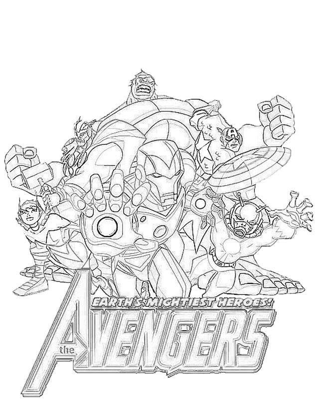 coloriage film avengers coloriage