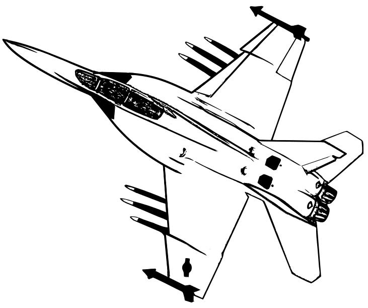 30 dessins de coloriage avion de chasse imprimer sur - Avion en dessin ...