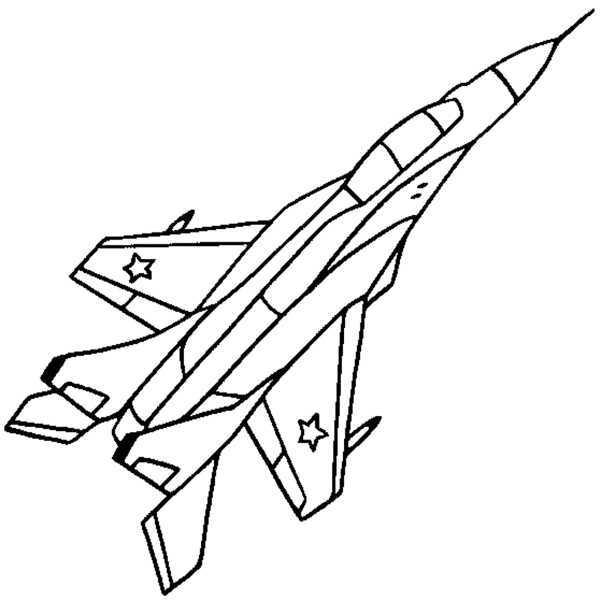 stealth bomber coloring pages - photo#29