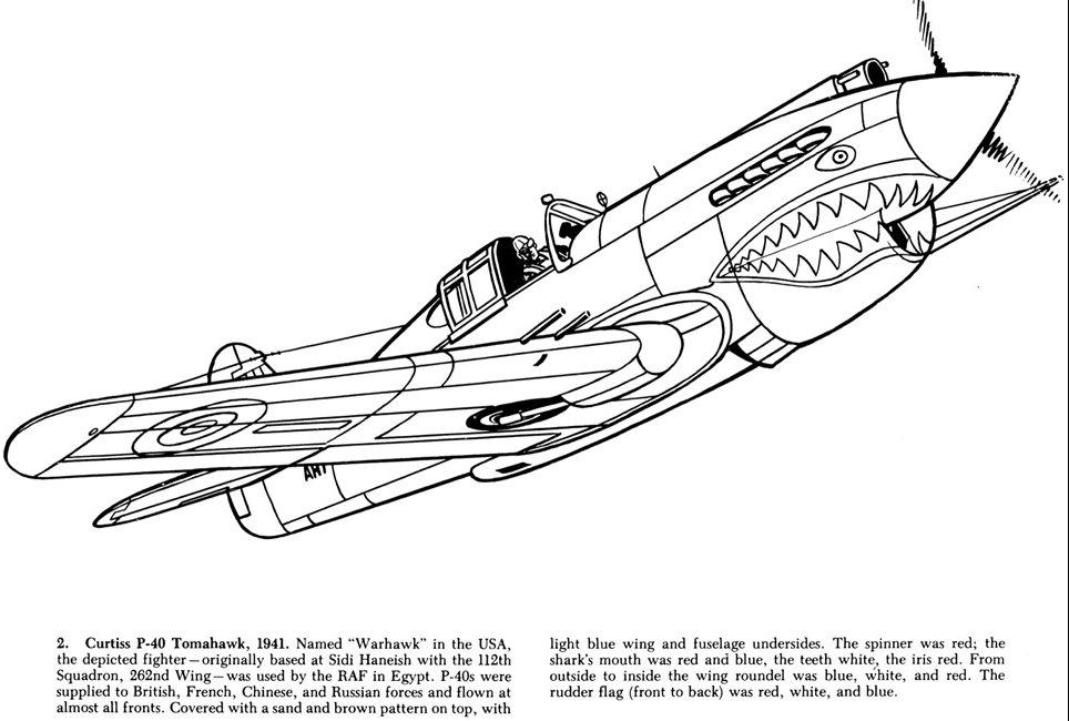 dessin 15806 coloriage avion de guerre colorier