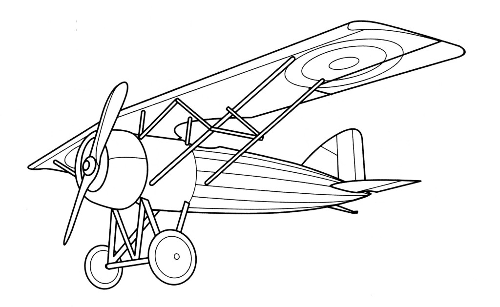 free vintage airplane coloring pages - photo#3