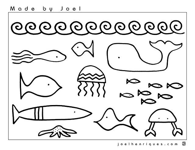 Dessin de baleine à colorier