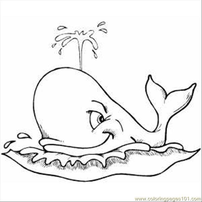 Dessin de baleine a colorier