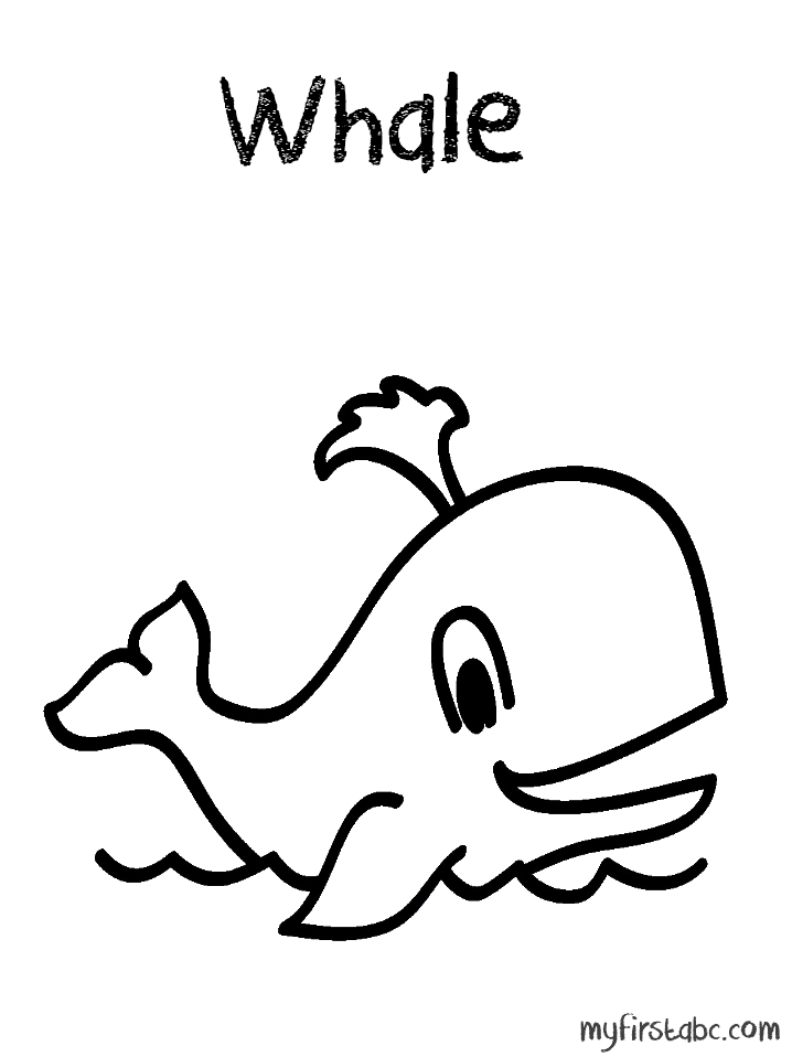 Dessin de baleine à imprimer