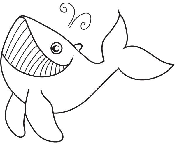 Coloriage de baleine gratuit à imprimer et colorier
