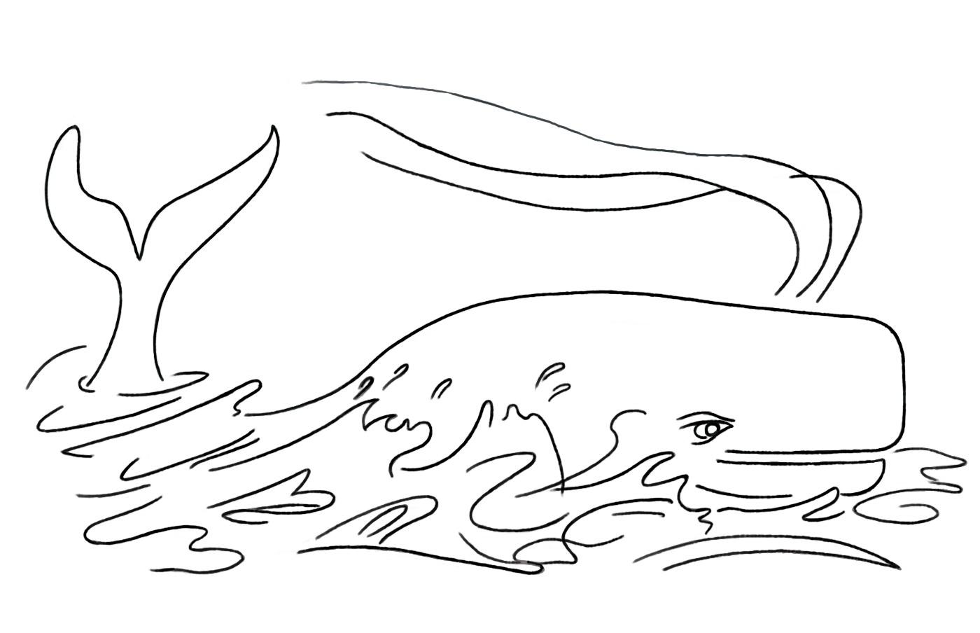 Jeux de coloriage baleine a imprimer et colorier
