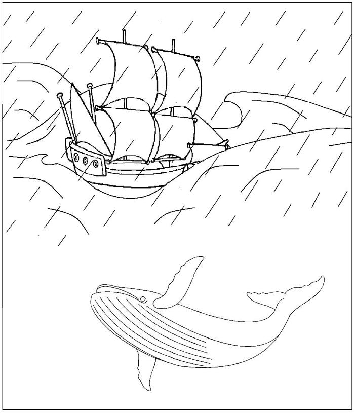Dessin de baleine a imprimer