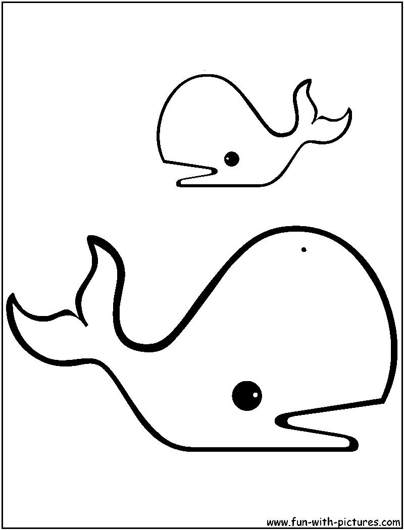 Dessin gratuit baleine à imprimer