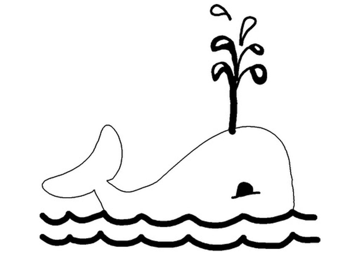 Dessin de baleine imprimer et colorier