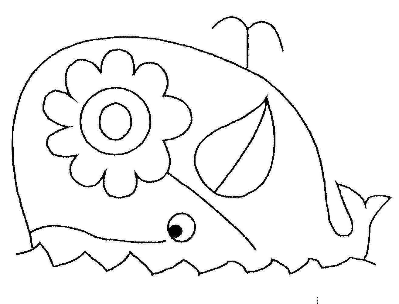 Coloriage de baleine gratuit à imprimer