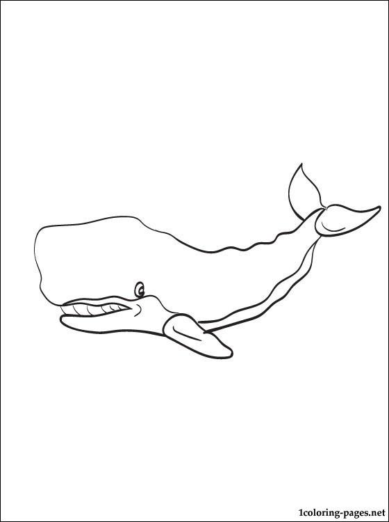 Dessin gratuit de baleine a colorier