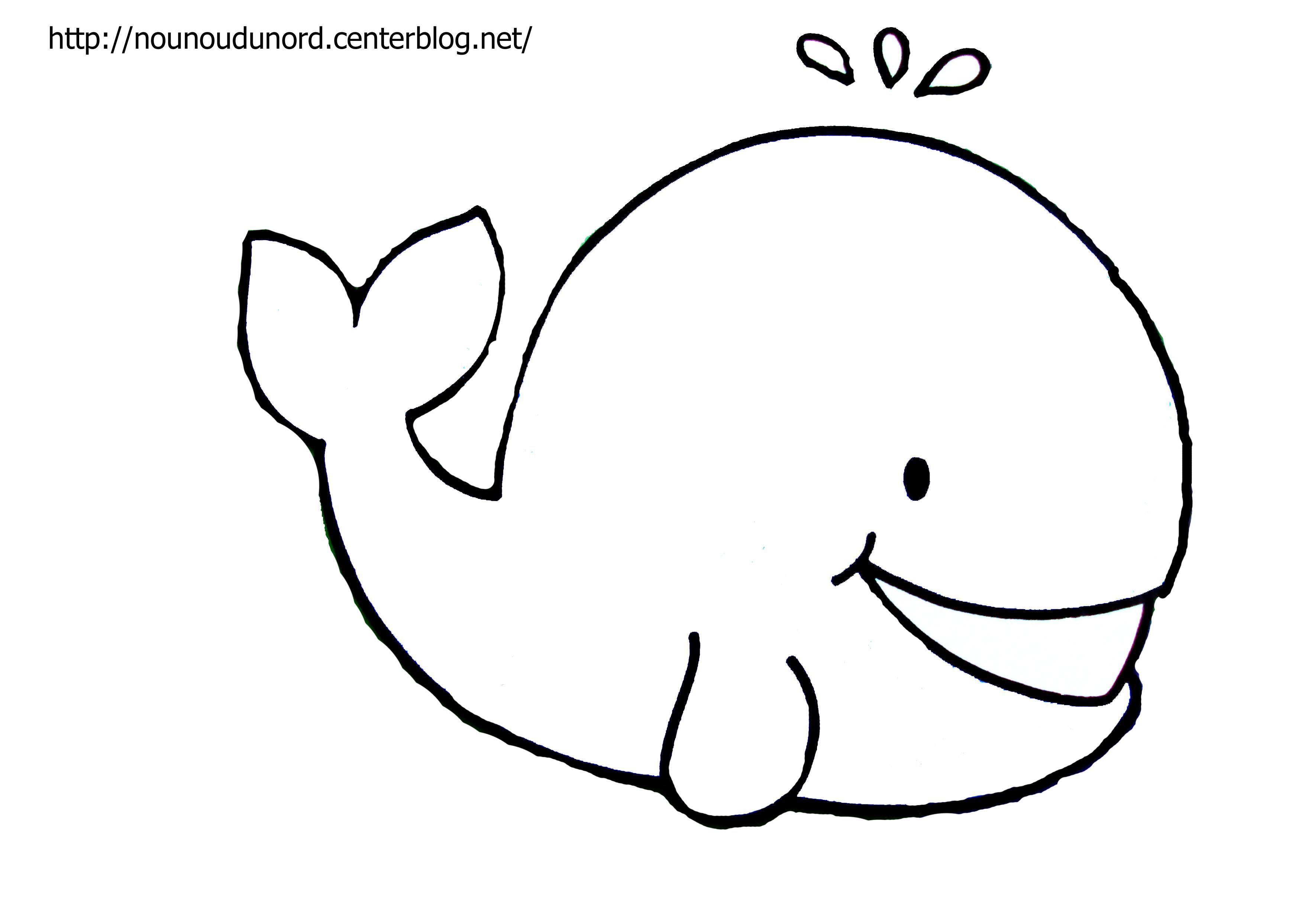 Dessin gratuit de baleine à imprimer