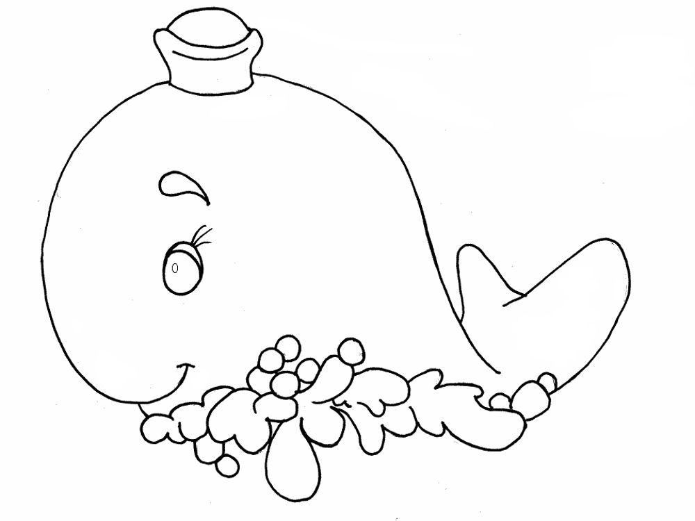 Coloriage de baleine à colorier