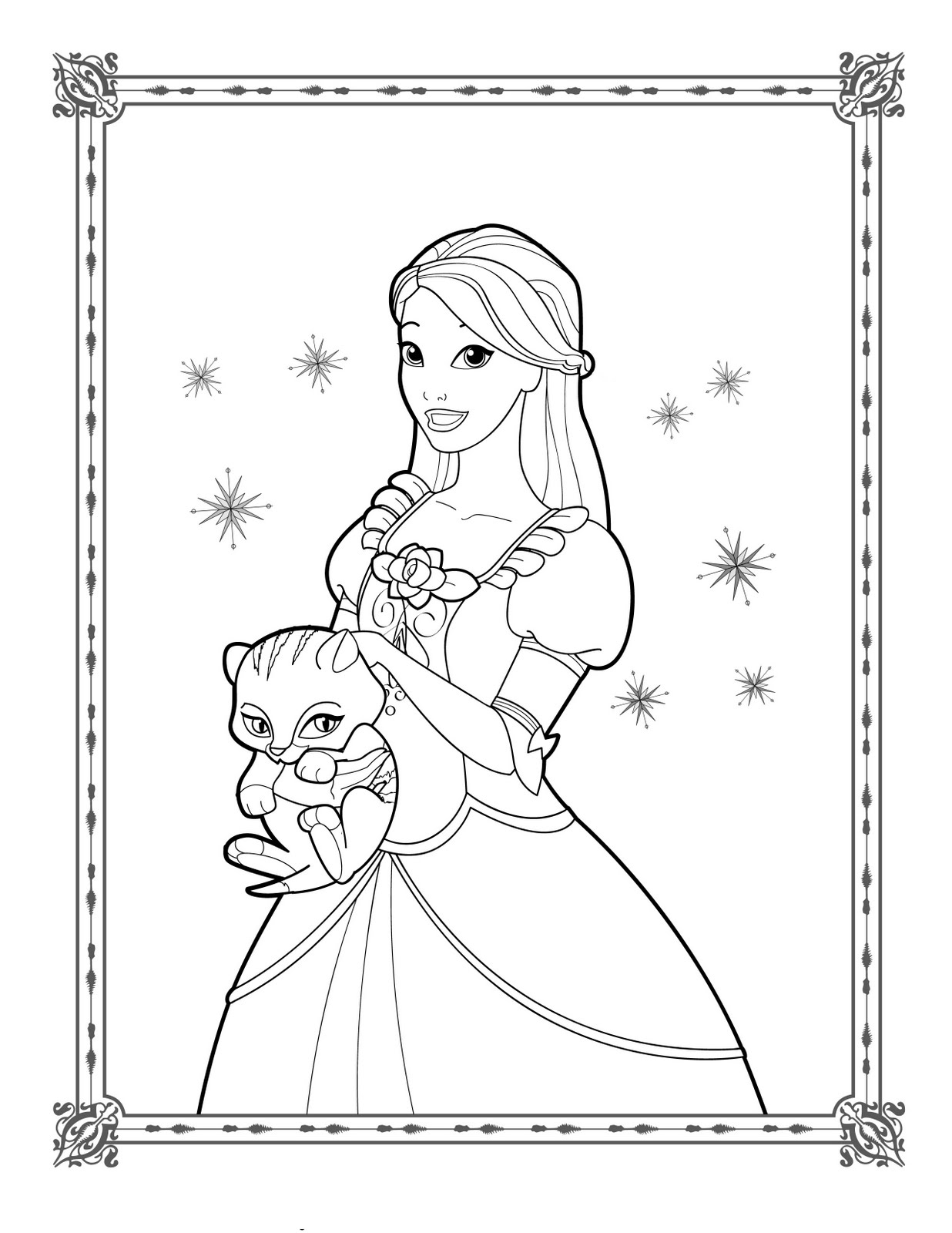 Unique Dessin Coloriage Barbie Princesse