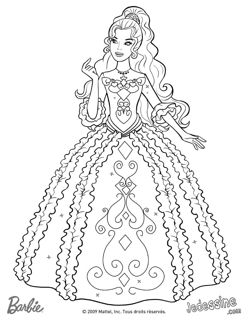 dessin gratuit barbie a imprimer