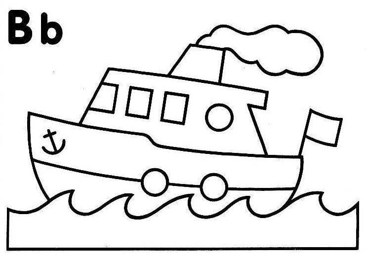 coloriage a imprimer bateau