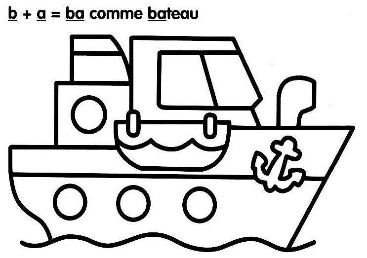 sélection de dessins de coloriage bateau à imprimer sur laguerche