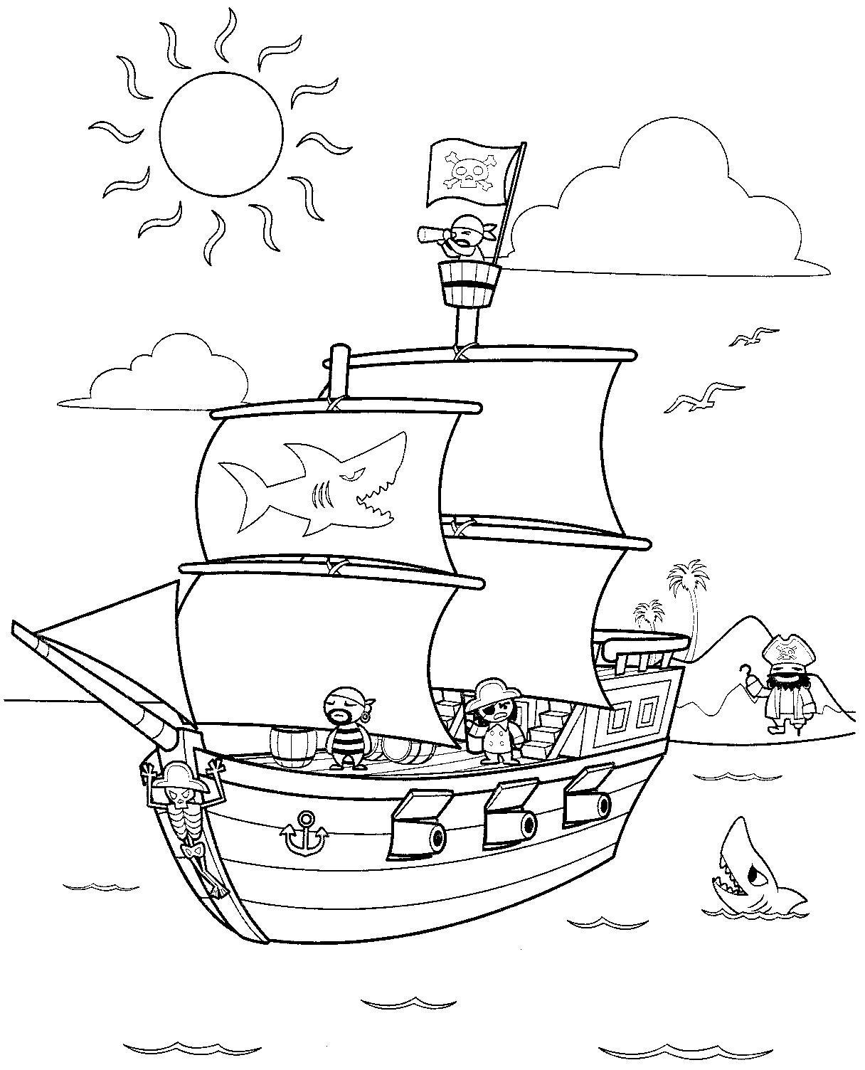 33 Dessins De Coloriage Bateau Pirate A Imprimer Sur Laguerche Com