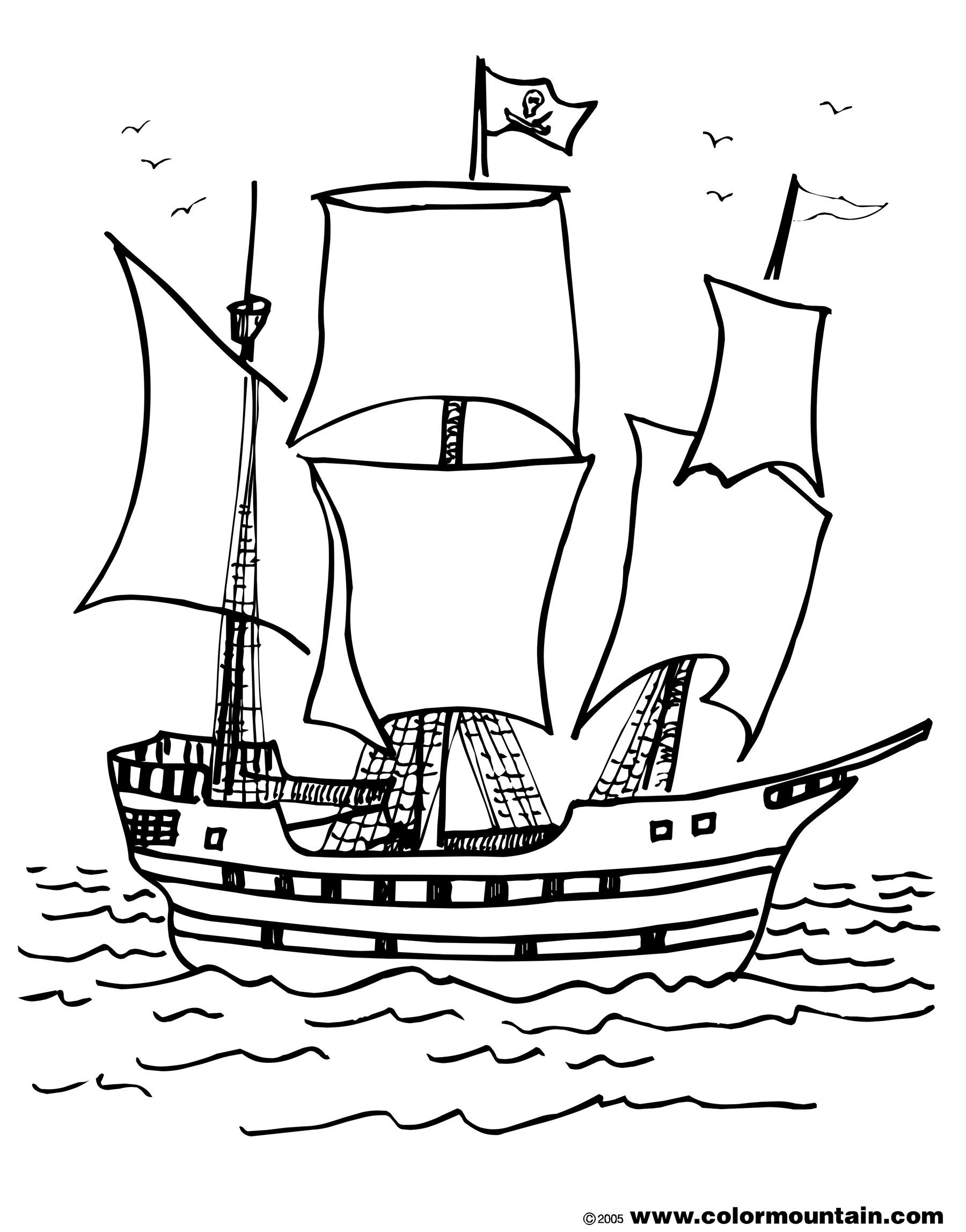 Coloriage bateau et pirates enfants - Dessin bateau enfant ...