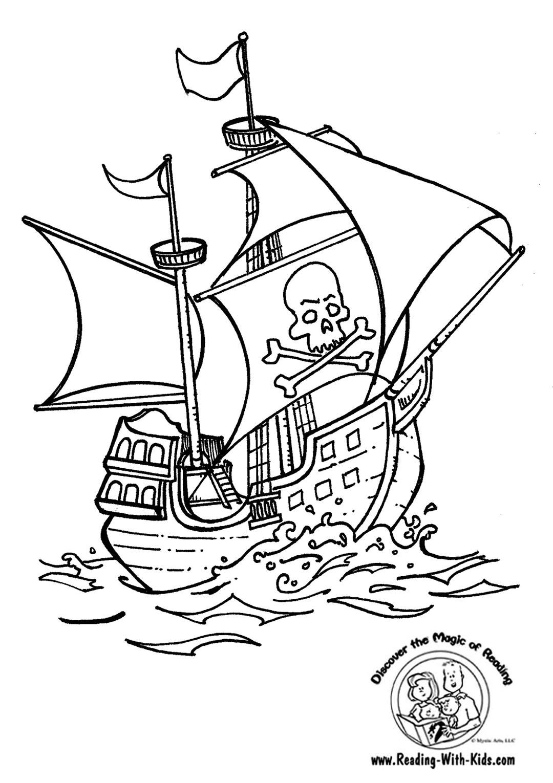 33 dessins de coloriage bateau pirate imprimer sur - Bateau pirate coloriage ...