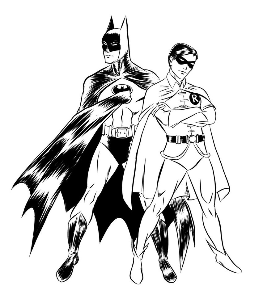 310 dessins de coloriage batman imprimer sur laguerche - Image de batman et robin ...
