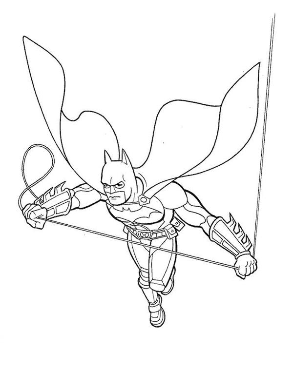 coloriage batman et sa corde