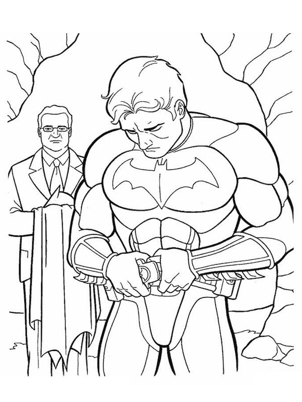 coloriage batman met son costume