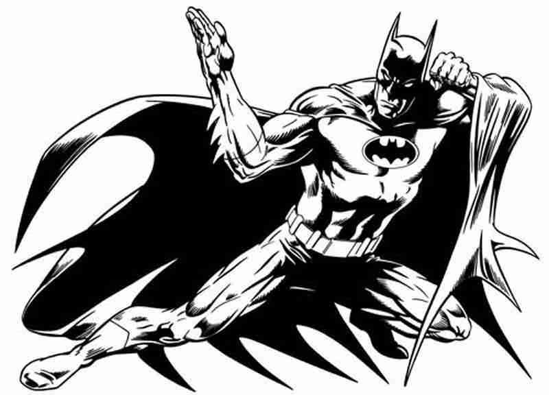 dessins à colorier batman coloriages pour enfants