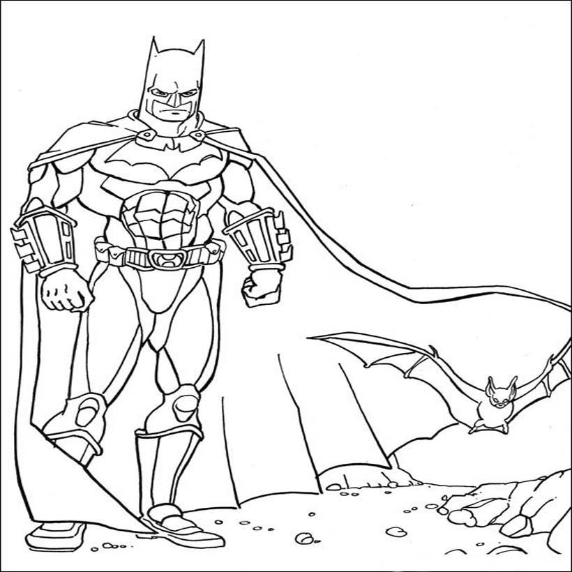 batman image à dessiner pages pour enfants