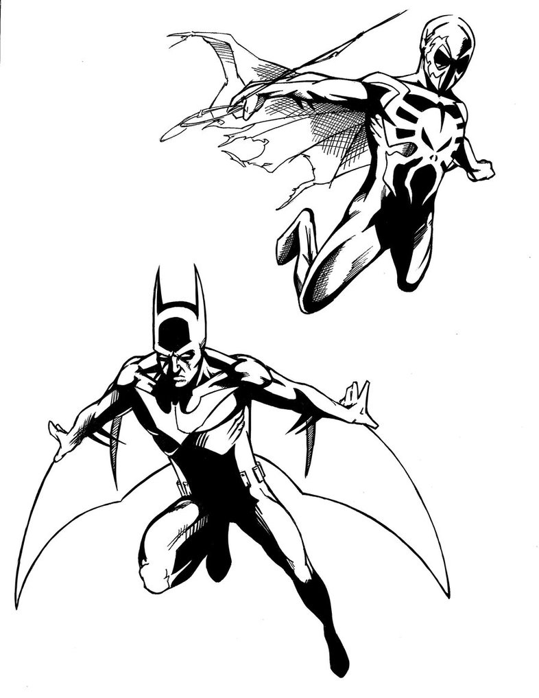 coloriage batman beyond