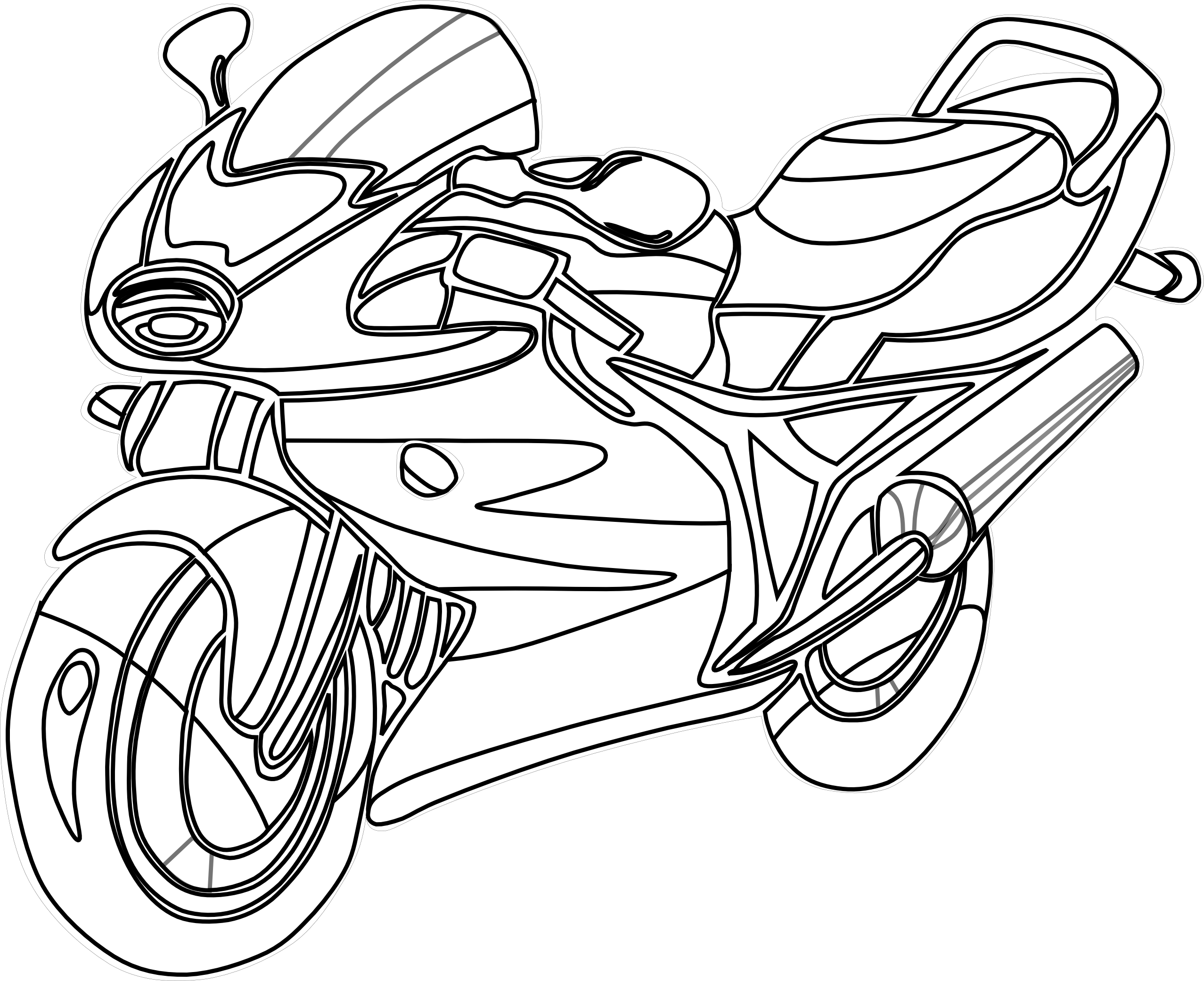 coloriage batman et sa moto