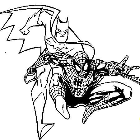 le coloriage batman et spiderman pour imprimer le coloriage batman