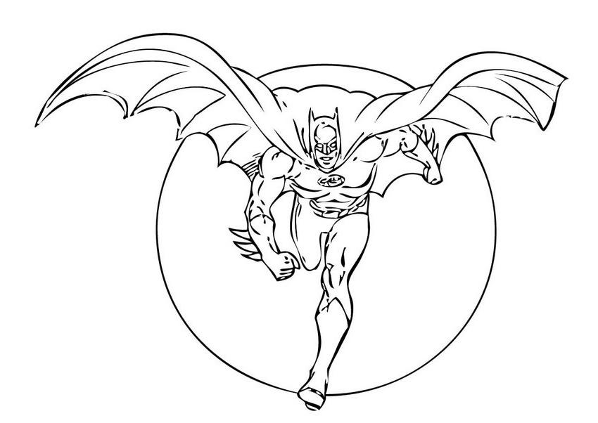 batman coloriage page enfants cute dessins à colorier