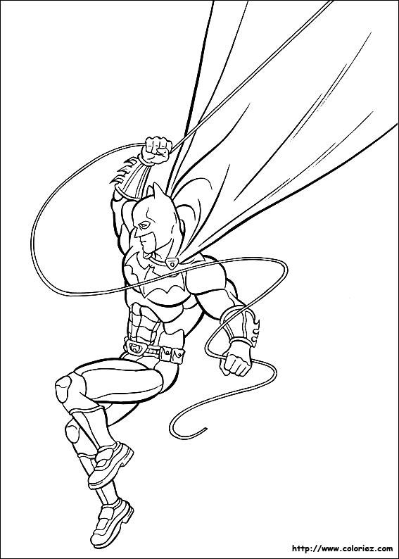 coloriage batman saute depuis les toits