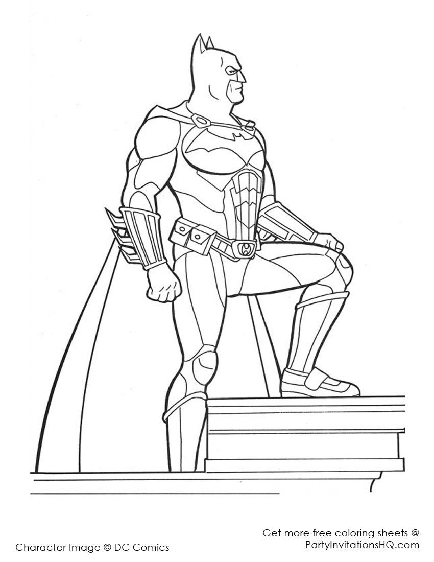 batman coloriage pages