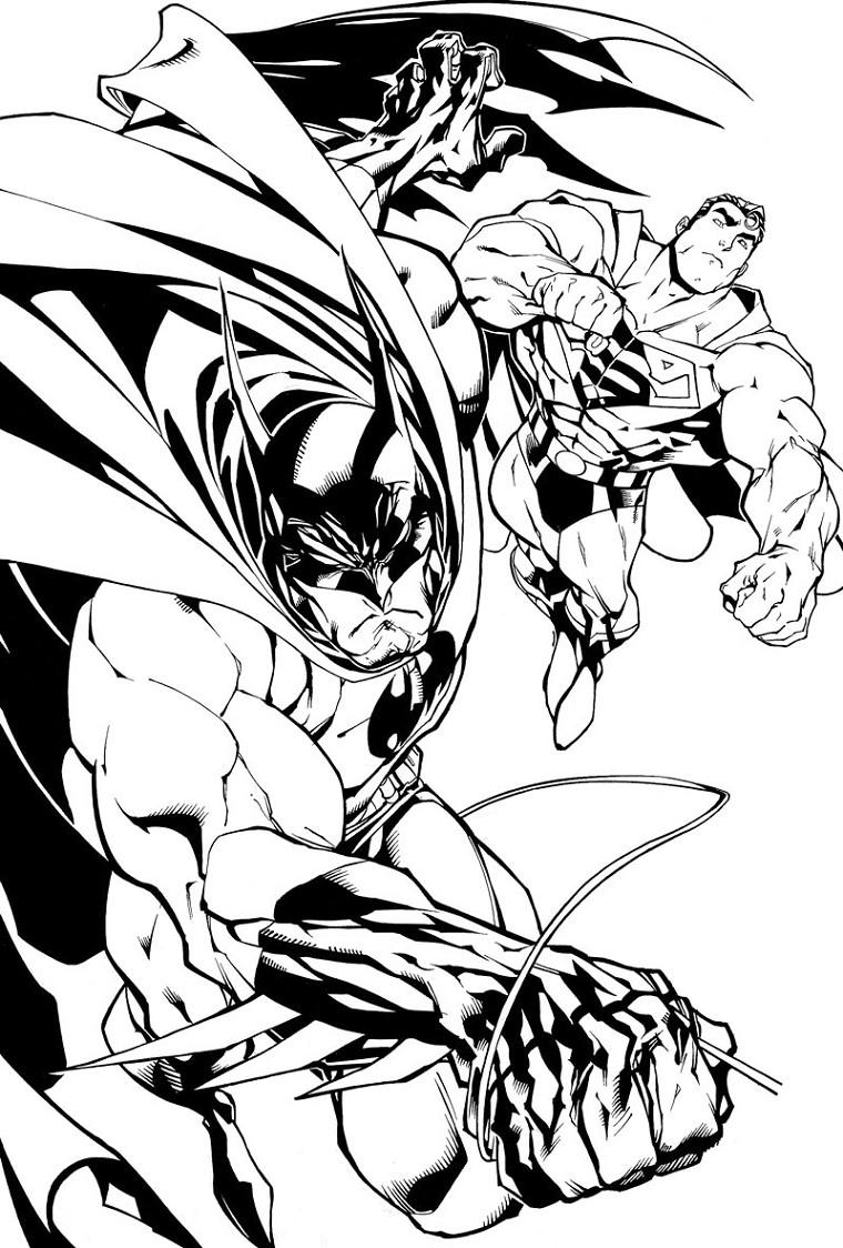 coloriage batman super heros
