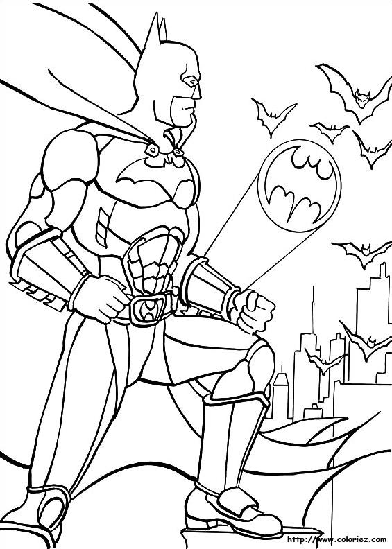 coloriage batman à imprimer et à colorier
