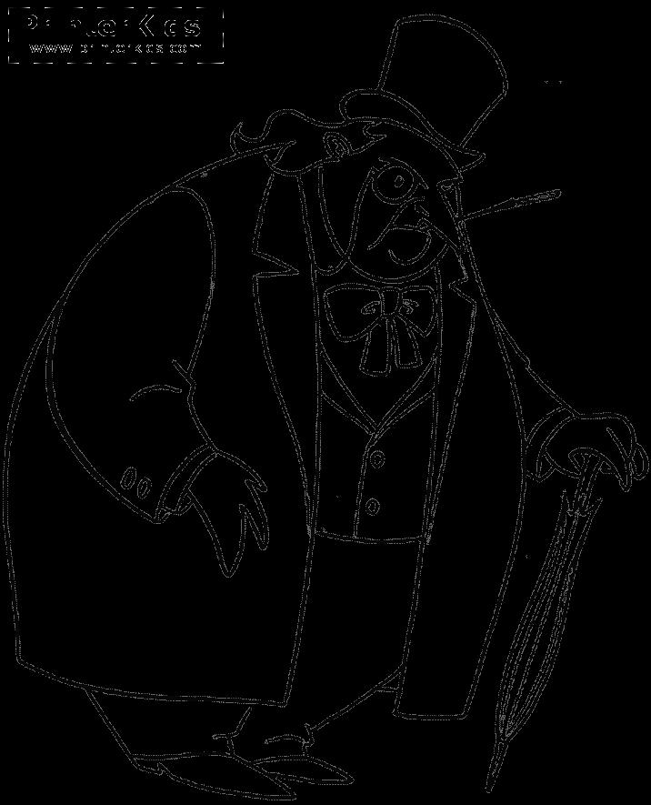 the penguin – batman dessin à coloriercoloriage coloriage