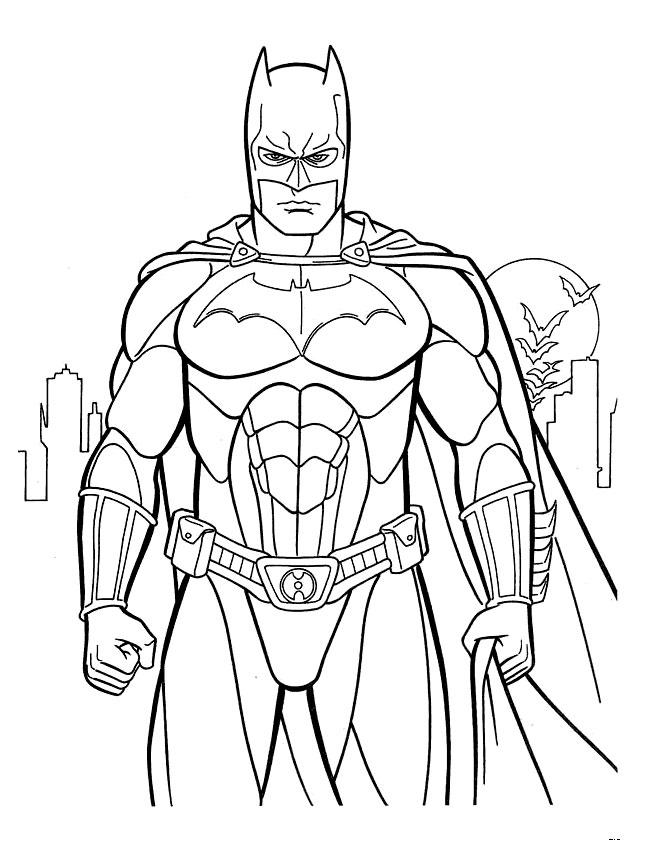 batman dessins à colorier