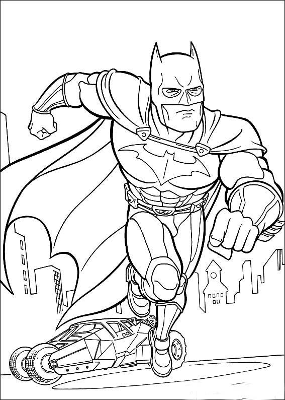 coloriage: batman image à dessiner pour enfants