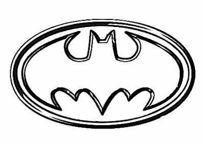 transmissionpress: enfants coloriage batman logo super hero