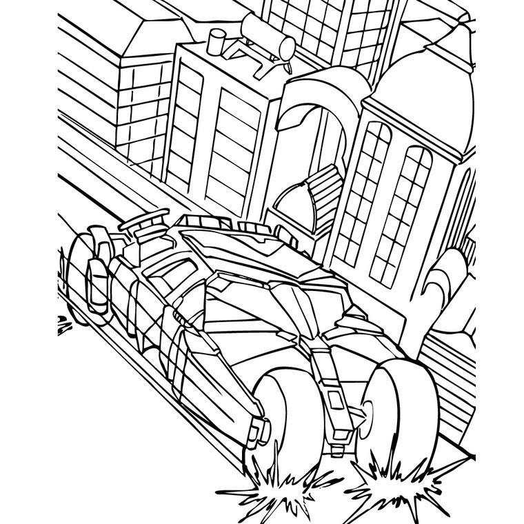 imprimer le coloriage batman voiture pour imprimer le coloriage batman