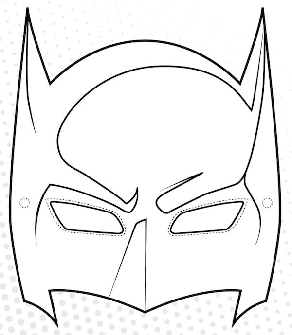 coloriage masque de batman