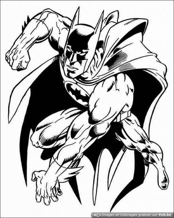 coloriage batman, le super héros dans la catégorie batman yeb