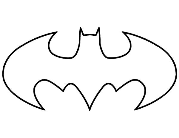 batman logo dessin colorier coloriage sun