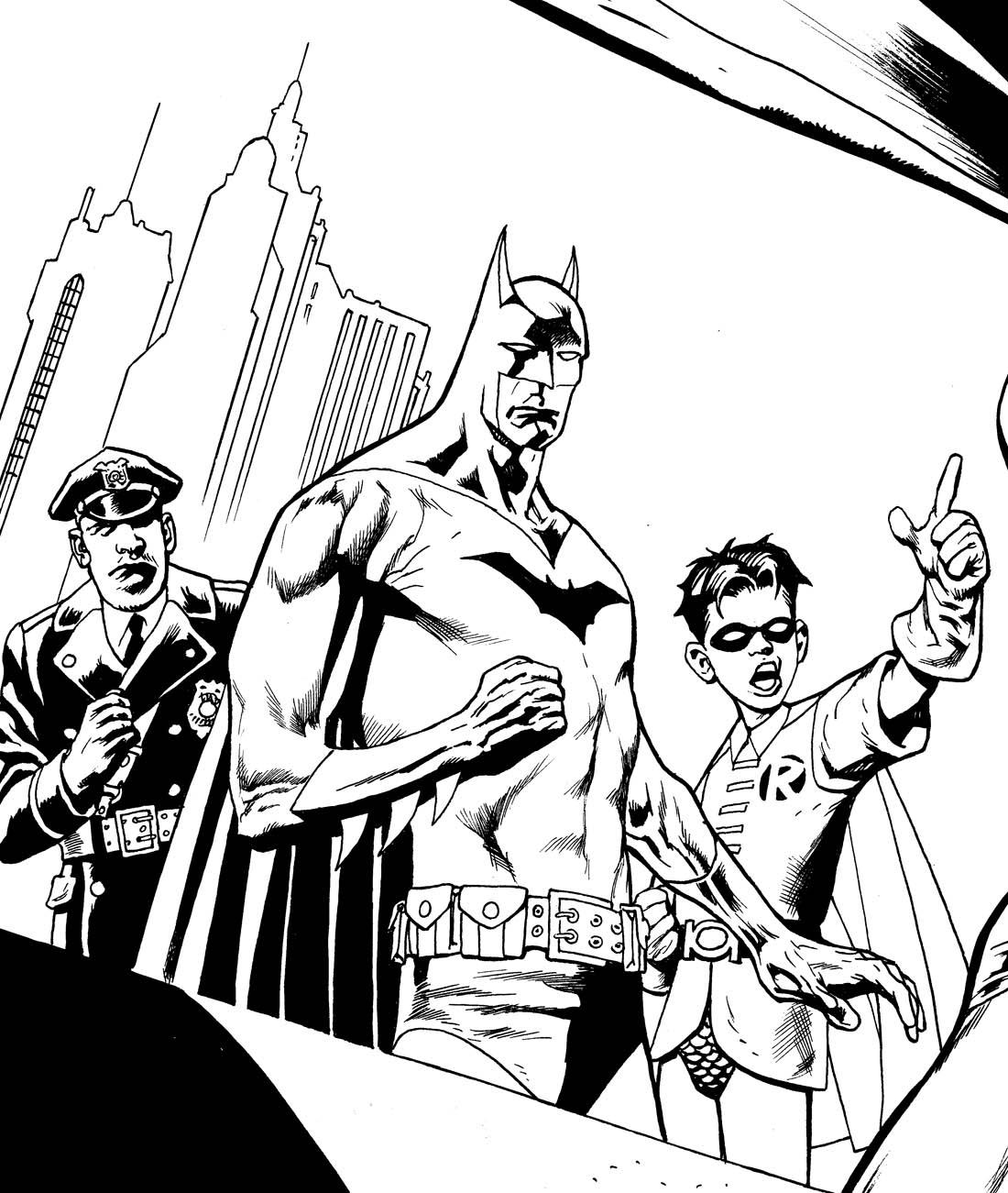 kevin nowlan: batman et robin ink
