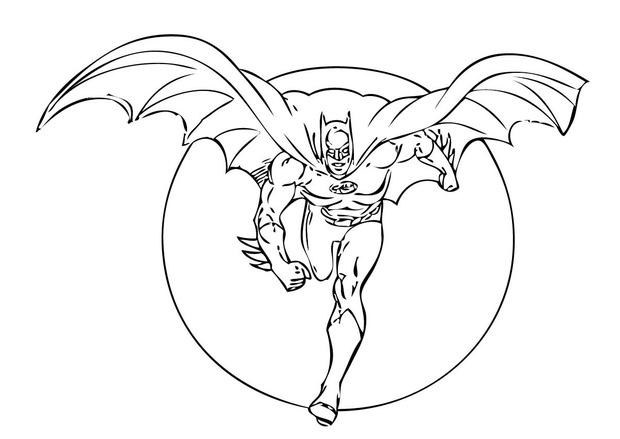 coloriage de batman gratuit